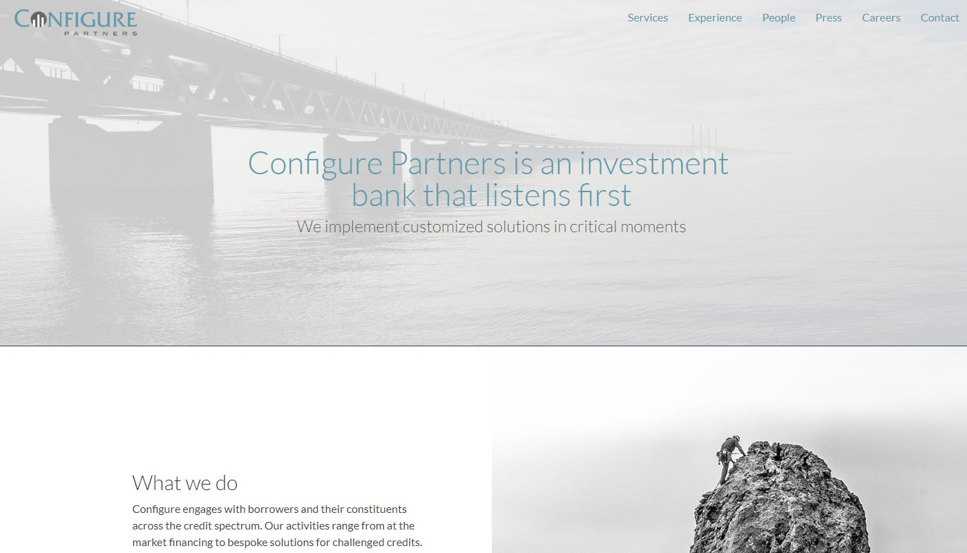 ConfigurePartners: Investment Bank