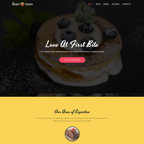 Cafe Website Theme