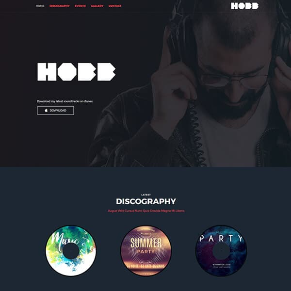 DJ - Music Website Theme