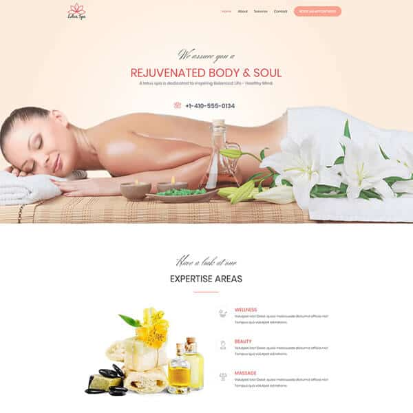 Body Spa Website Theme