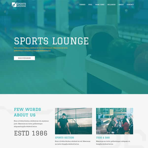 Sports Website Theme