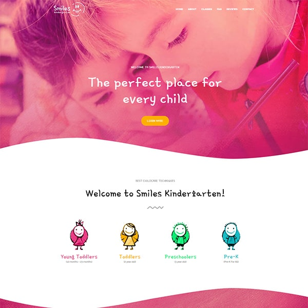 Preschool Website Theme