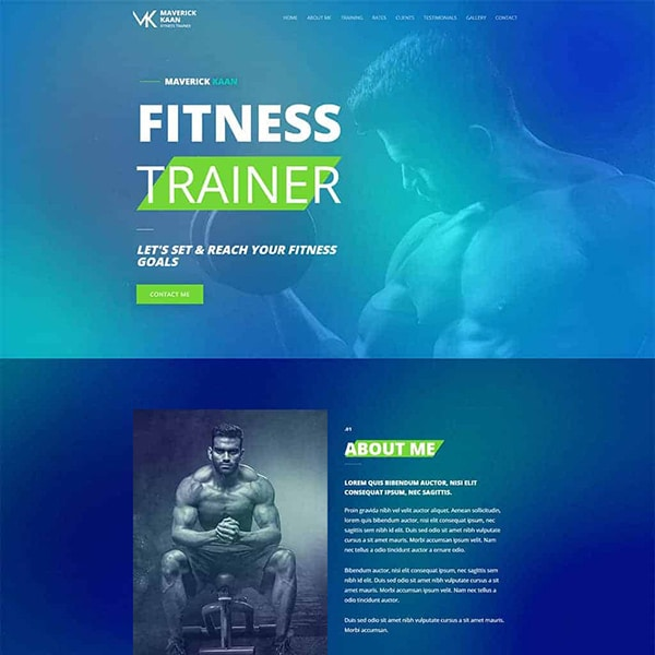 fitness trainer design 1