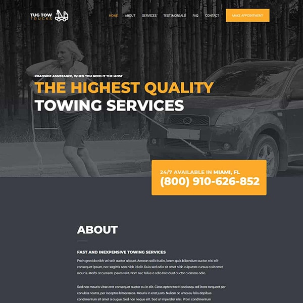 towing service design 1